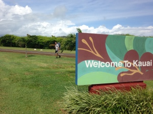 Walking from the airport in Lihue to Walmart is a breeze