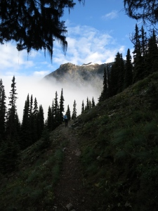 Snow free trail with beautiful views