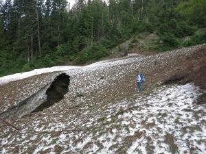 Giant Snow bridge near Panther Camp