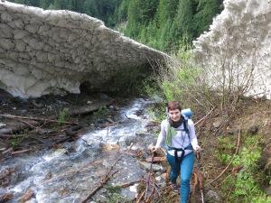 Finding a way around the snow bridge