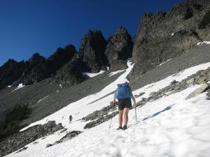 A few short snow traverses