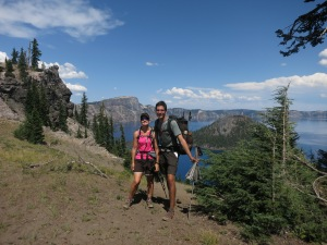 Tons of tourists to take pictures of us in Crater Lake  National Park.