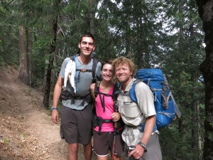 Us and Lubko (Bam Bam) our friend from the Bay Area who hiked from Mexico