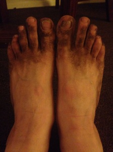 Dirty Feet! This is not a picture of my dirtiest feet but you get the idea