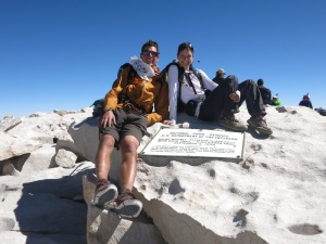 On top of Mt Whitney