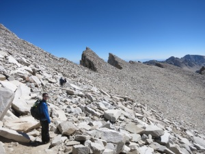 Near the top of Mt Whitney