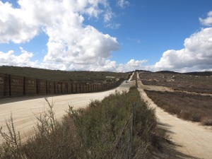 The border-- with Border Patrol driving up and down constantly