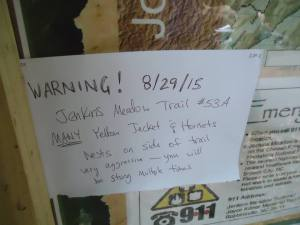 warning to hikers